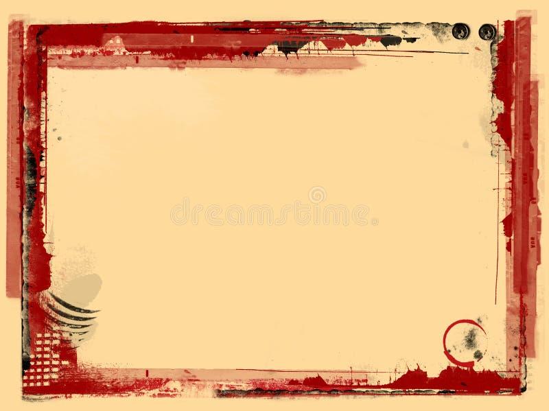 Cadre grunge et fond illustration stock