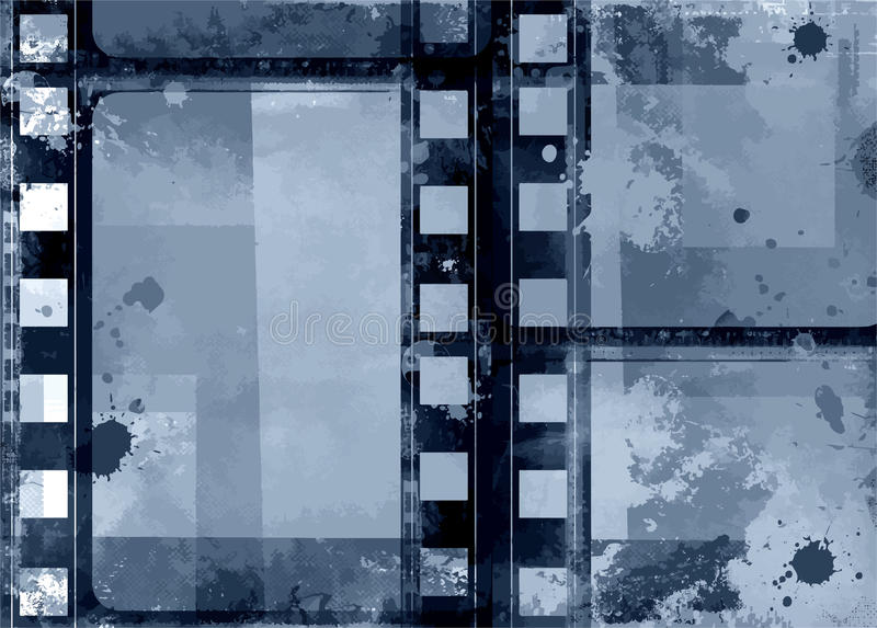 Cadre grunge - grande texture affligée Frontière superficielle par les agents par vintage décoratif de vecteur Grand fond grunge  illustration libre de droits