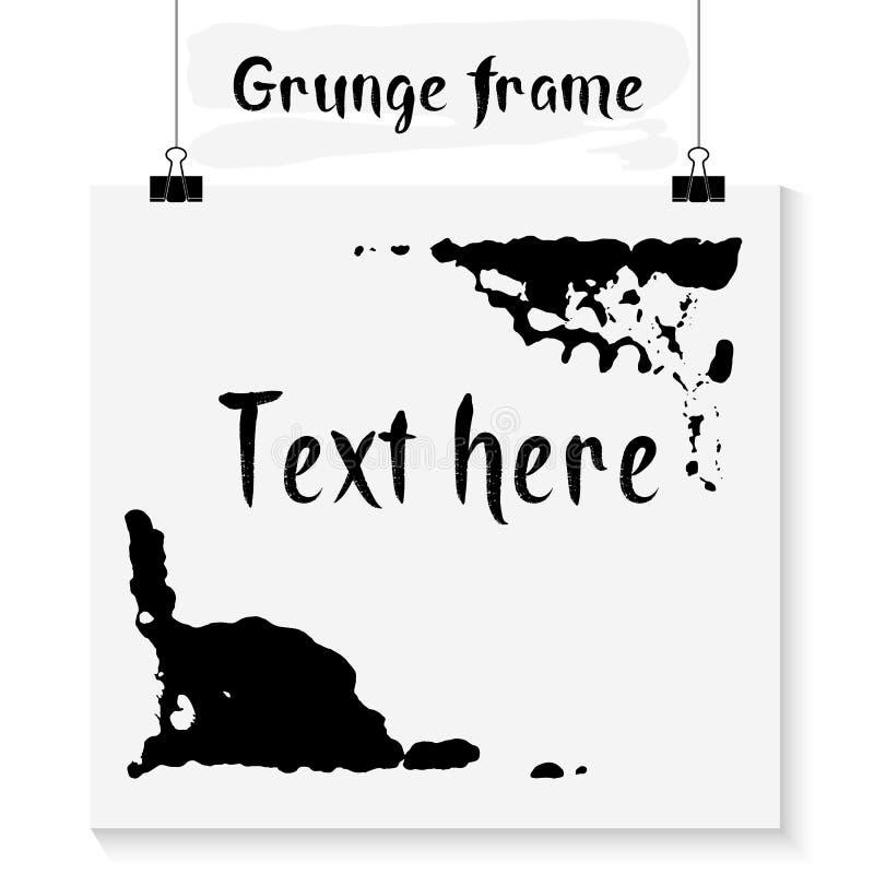 Cadre grunge monochrome illustration libre de droits