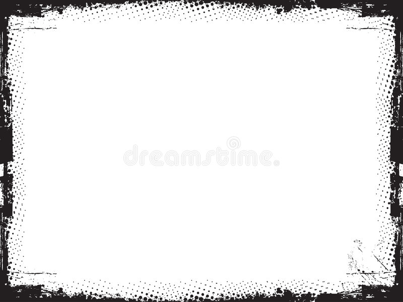 Cadre grunge - vecteur illustration de vecteur