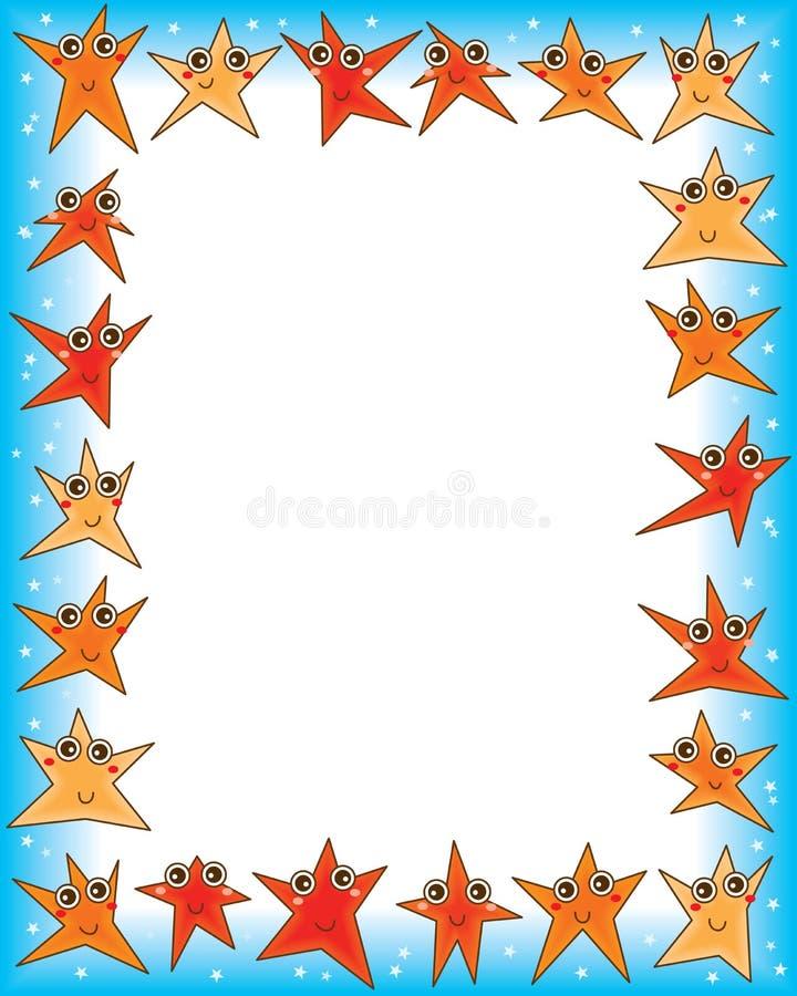 Cadre heureux d'étoile illustration libre de droits