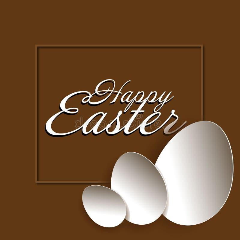 Cadre heureux d'oeufs de Pâques trois illustration stock