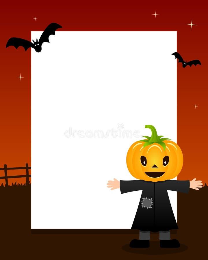 Cadre heureux de verticale de Halloween d'épouvantail illustration libre de droits