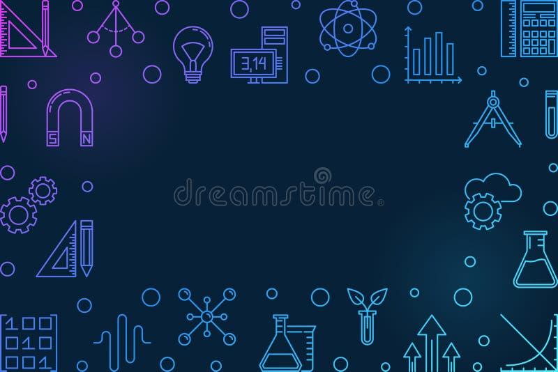 Cadre horizontal bleu de TIGE E illustration libre de droits