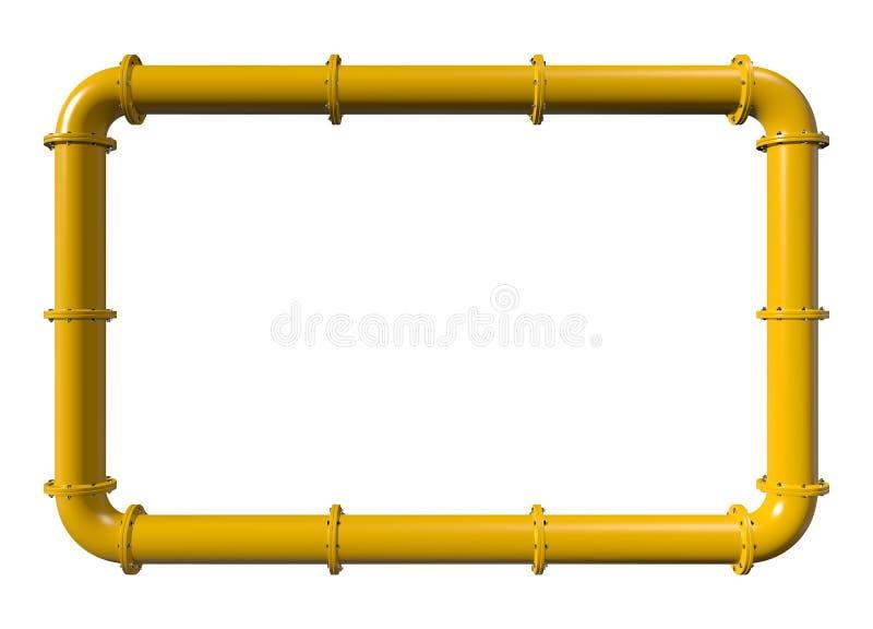 Cadre jaune de canalisation image stock