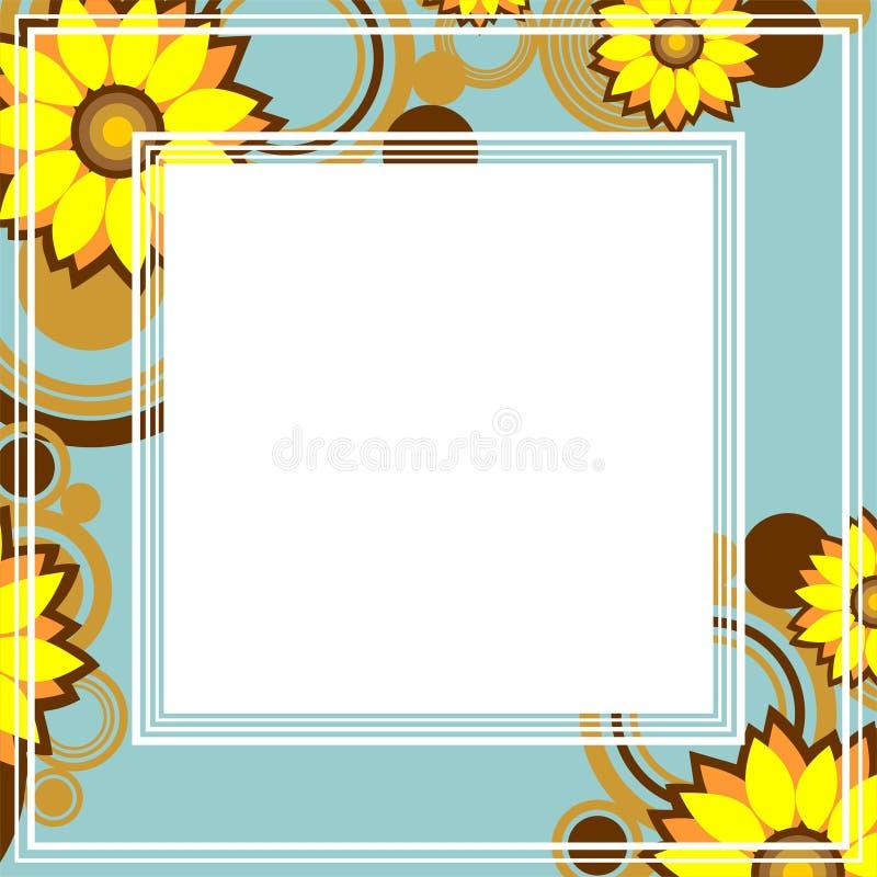 cadre jaune de fleurs illustration de vecteur image du fond 45859663. Black Bedroom Furniture Sets. Home Design Ideas