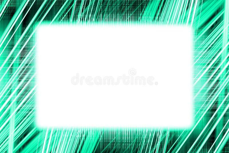 Cadre léger vert et blanc de traînées illustration de vecteur