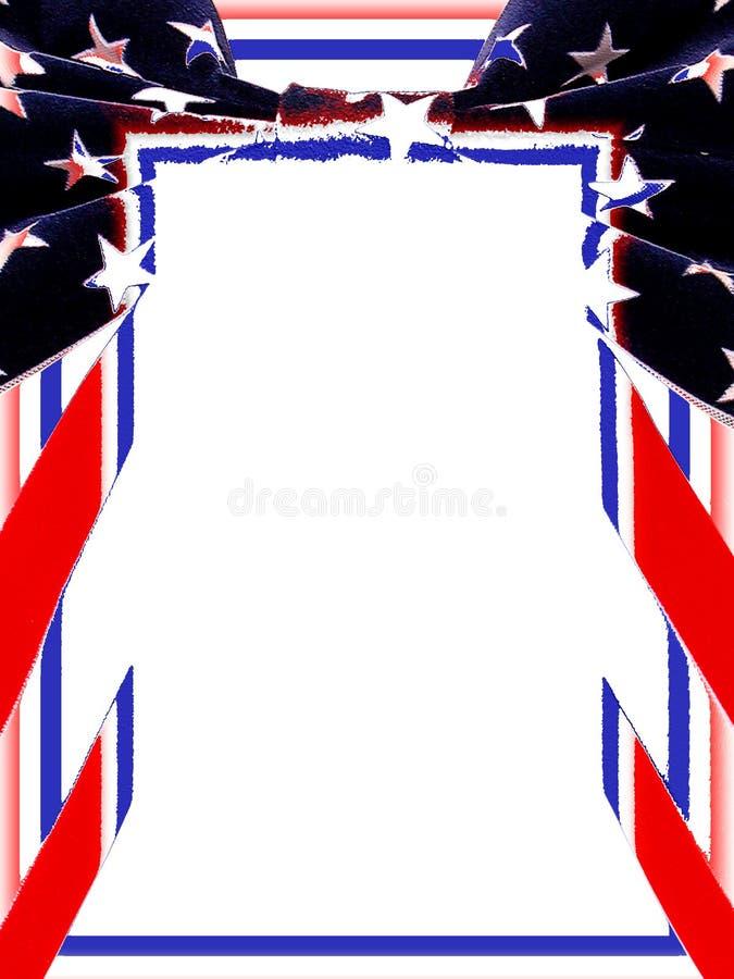 Cadre : Les Etats-Unis Patriotiques Images stock