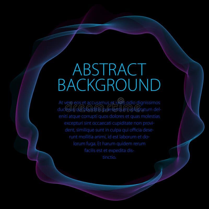 Cadre linéaire doux rond des lignes onduleuses Artisti abstrait de vecteur illustration de vecteur