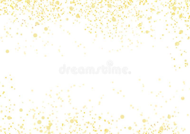 Cadre luxueux en baisse lumineux d'abrégé sur d'or miroitement illustration de vecteur