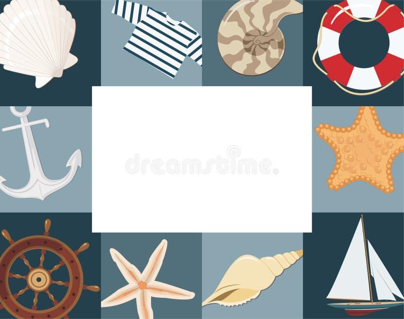 Cadre marin illustration libre de droits