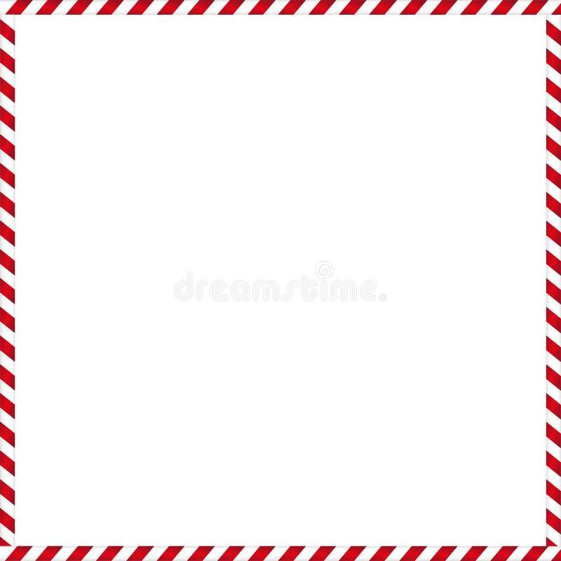 Cadre mignon de Noël avec le modèle rayé de sucrerie illustration stock