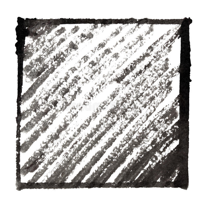 Cadre noir avec l'ombrage illustration libre de droits