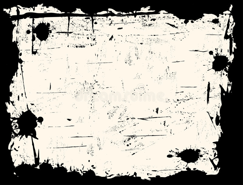 Cadre noir de Grunged illustration de vecteur