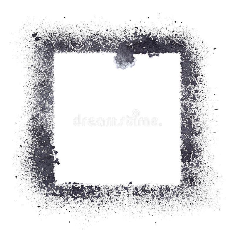 Cadre noir de pochoir illustration libre de droits