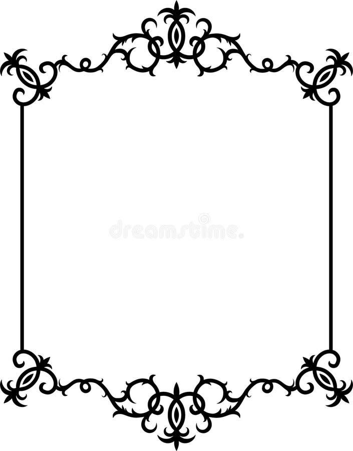 cadre noir et blanc abstrait illustration stock. Black Bedroom Furniture Sets. Home Design Ideas