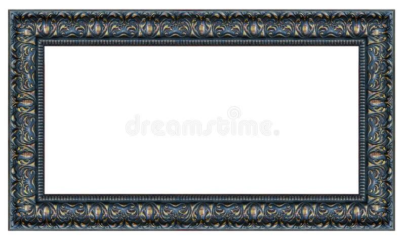 Cadre noir et d'or de cru de rectangle photo libre de droits