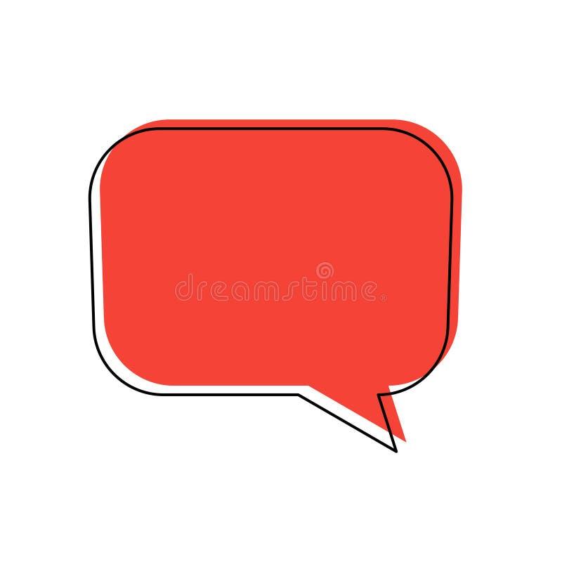 Cadre noir rouge de bulle d'entretien de boîte de causerie illustration libre de droits