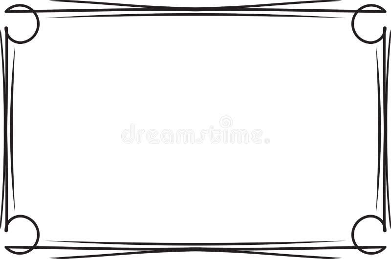 Cadre noir simple d coratif classique pour votre texte - Cadre avec photo noir et blanc ...
