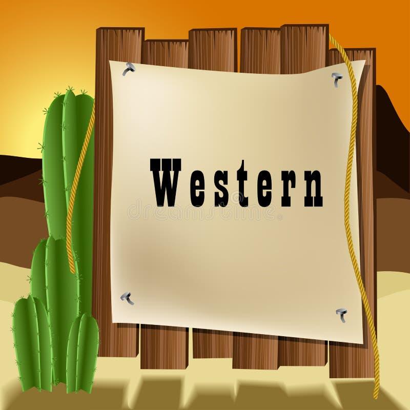 Cadre occidental des textes illustration libre de droits