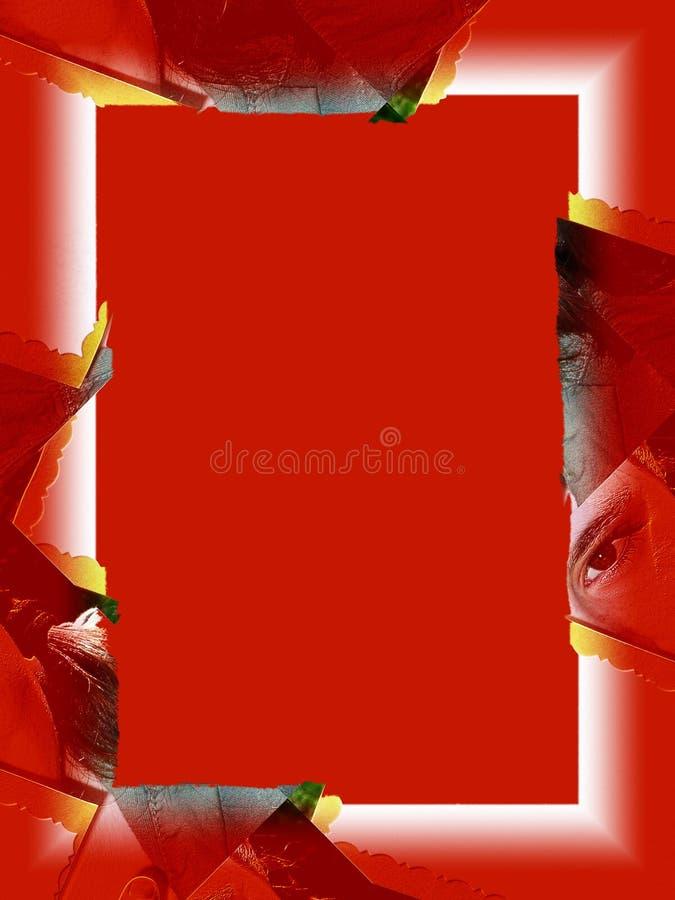 Cadre : Oeil rouge illustration stock
