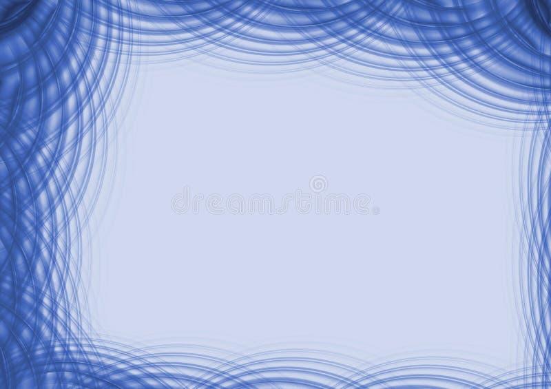 Cadre - ondulations bleues illustration stock