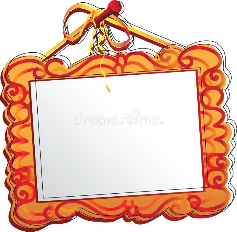 cadre orange de la photo un cadre en bois stylis u00e9 avec le mod u00e8le pour la photographie ou la