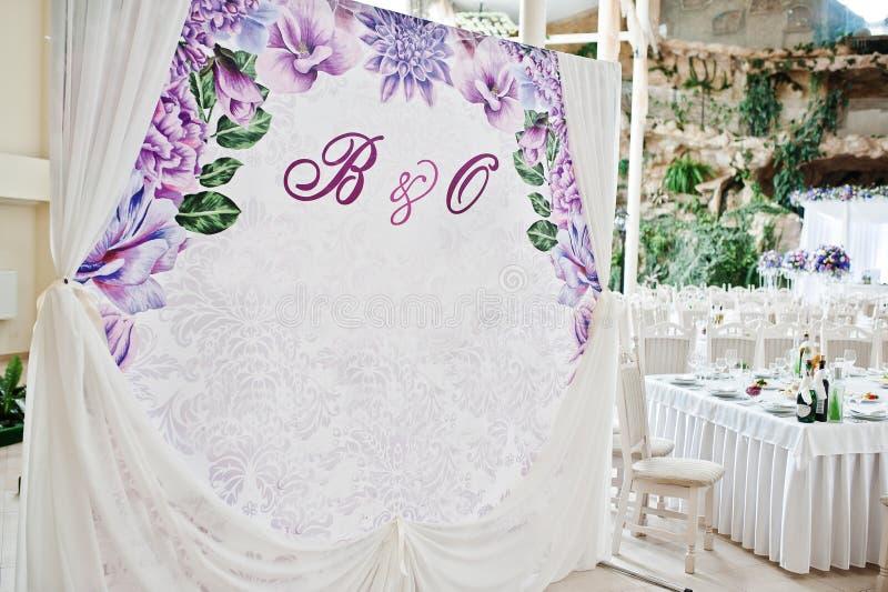 Cadre ou bannière de photo de mariage pour des invités photos stock