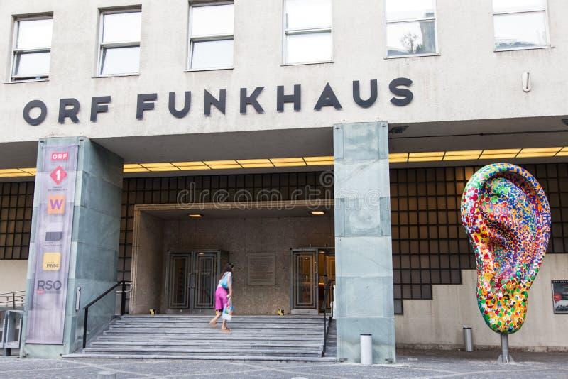 Cadre ouvert de lecture Funkhaus photographie stock