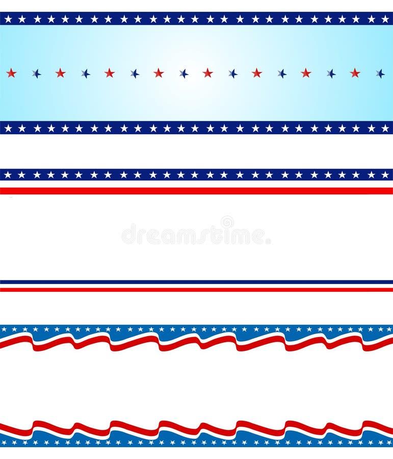 Cadre patriotique illustration stock