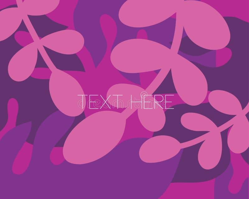 Cadre plat d'illustration de vecteur de fleur pourpre de fleur avec le texte vide