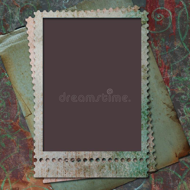 Cadre pour la photo ou l'information photo stock