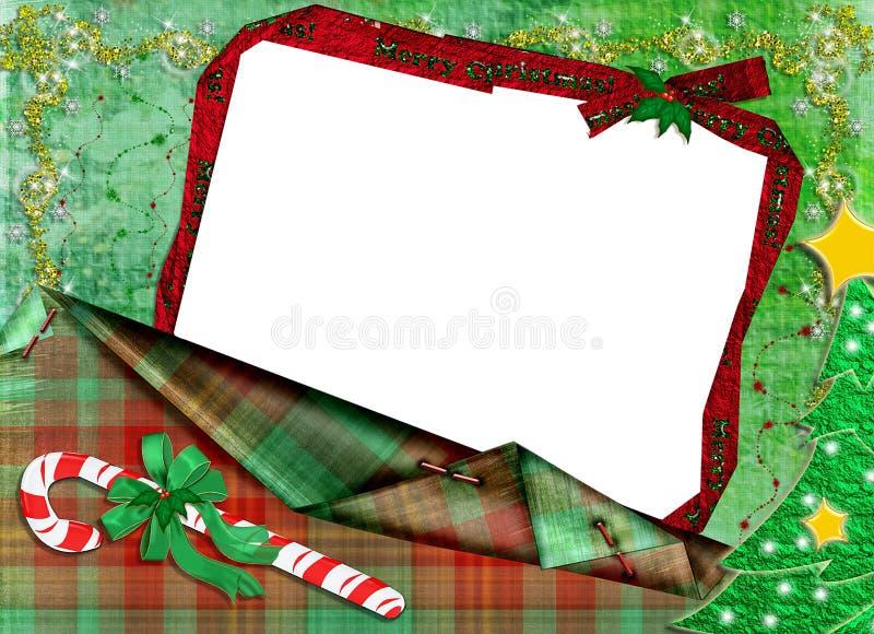 Cadre pour une photo pour Noël. illustration de vecteur