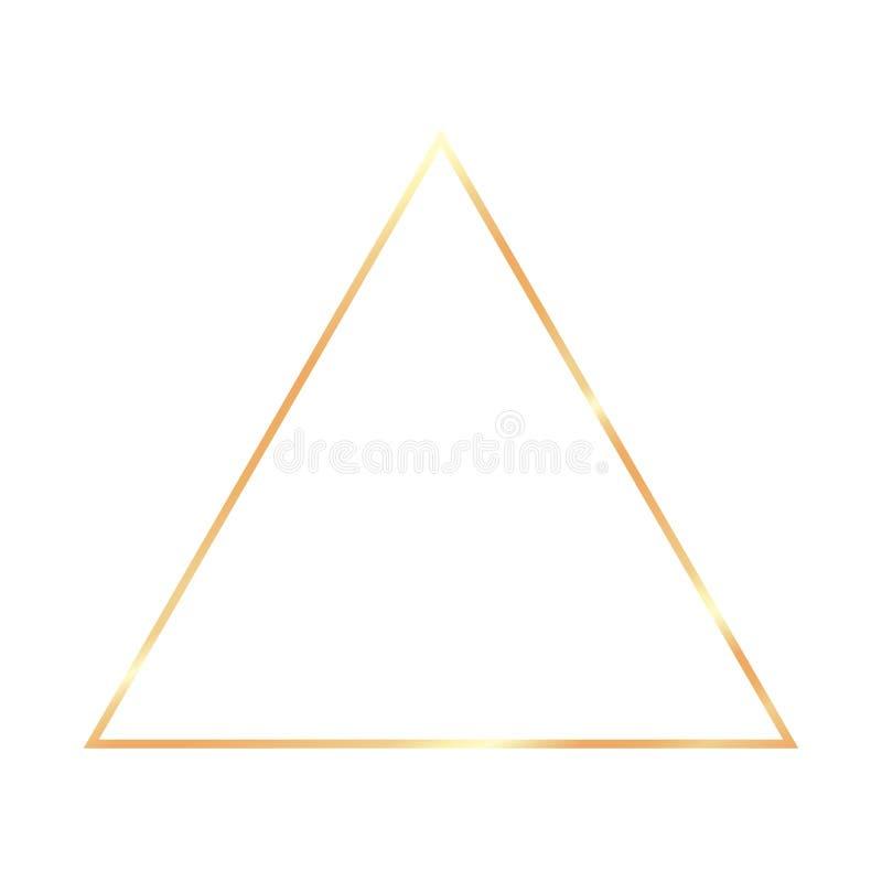 Cadre réaliste de cru d'or sur le fond transparent illustration libre de droits