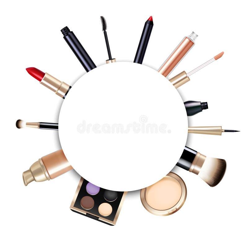 Cadre réaliste de maquillage illustration de vecteur