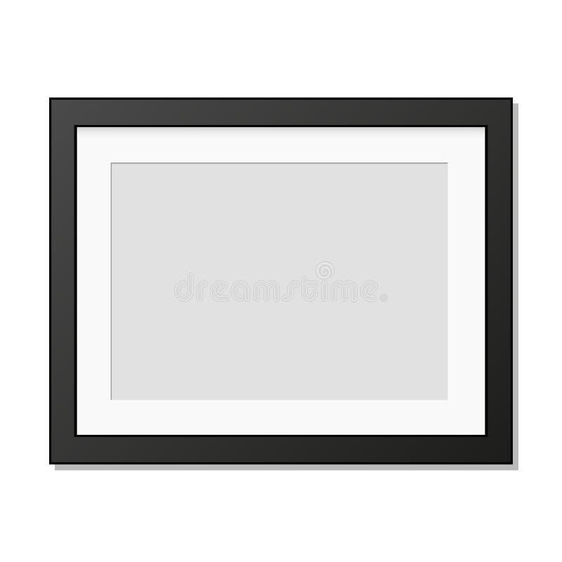 Cadre réaliste de photo accrochant sur le mur illustration libre de droits