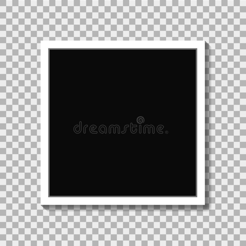 Cadre réaliste de photo dans le style de maquette sur le fond d'isolement Vecteur eps10 illustration libre de droits