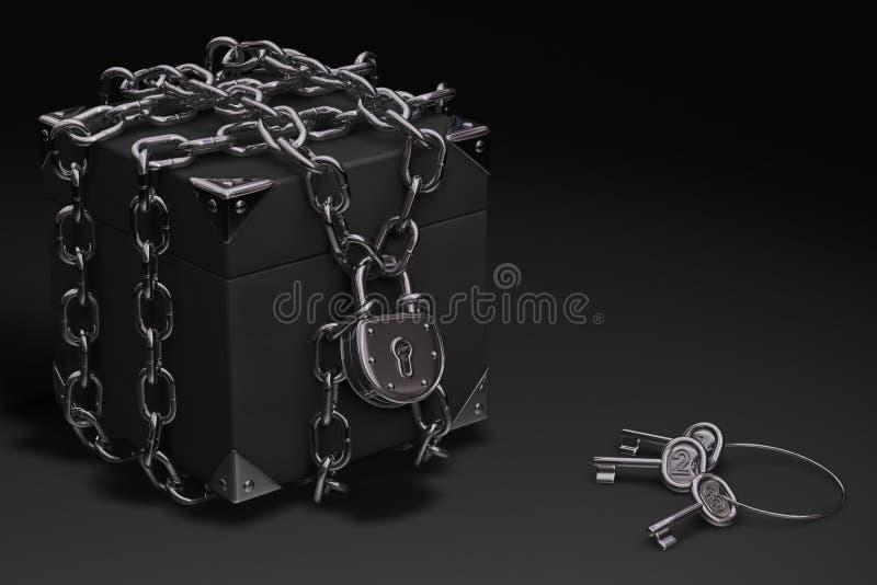 Cadre, réseau et cadenas illustration de vecteur