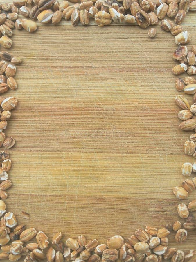 Cadre rôti de grain d'avoine image stock