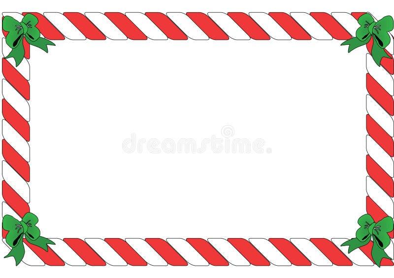 Cadre rayé rouge et blanc illustration de vecteur