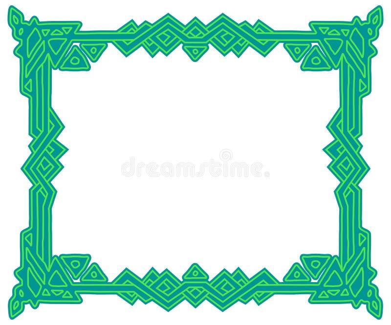 Cadre rectangulaire avec l'ornement national celtique, ruban entrelacé d'isolement sur le fond blanc ?l?ment pour la conception g illustration libre de droits