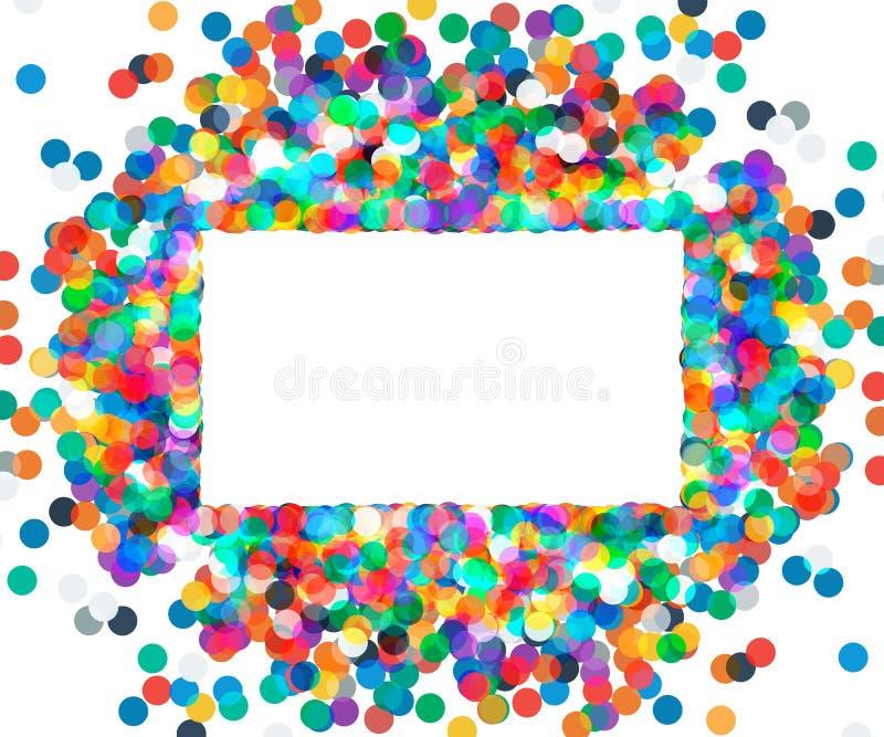 Cadre rectangulaire des confettis colorés photo libre de droits