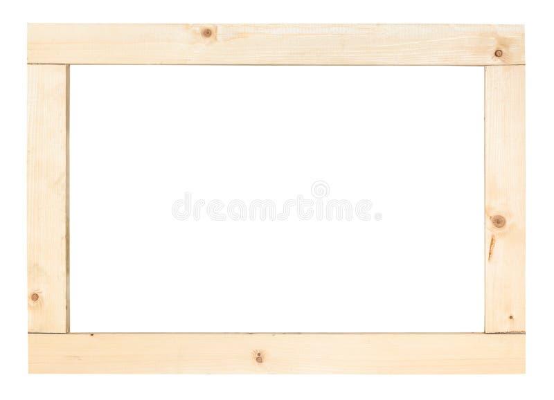Cadre rectangulaire simple des planches en bois photo stock