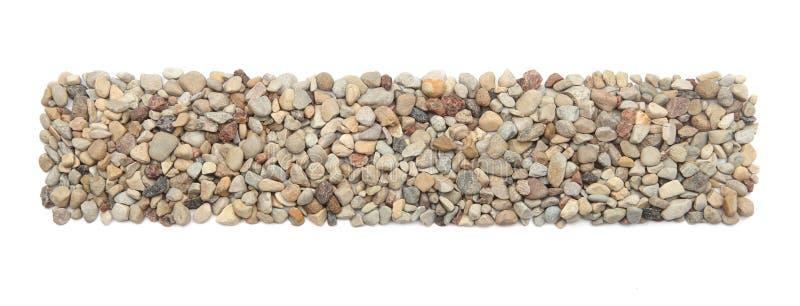 Cadre rectifié de pierres d'isolement sur le fond blanc photo libre de droits