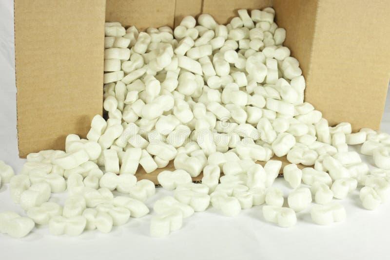 Cadre renversé d'arachides d'emballage photos stock