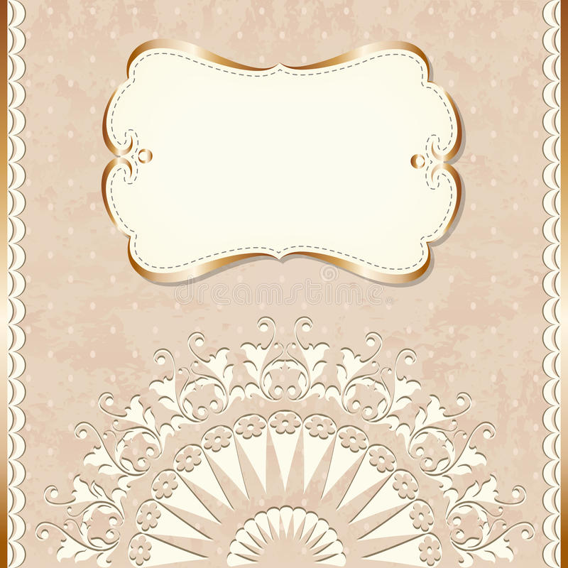 Cadre romantique de cru illustration de vecteur