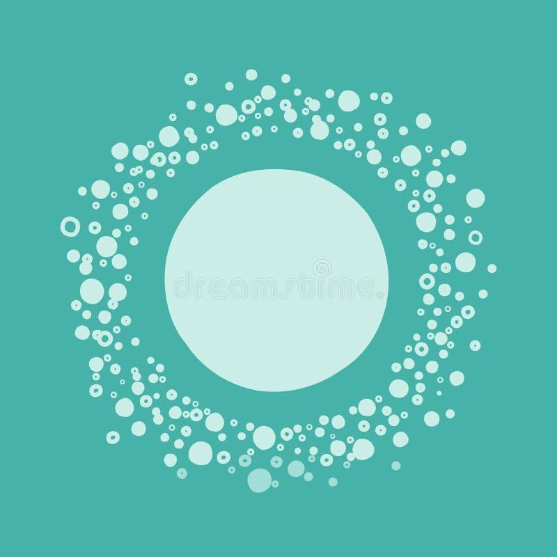 Cadre rond de bulle mignonne pour le texte sur le fond de turquoise coloré illustration stock