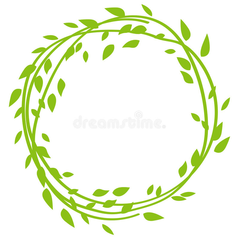 Cadre rond fait à partir des feuilles Trame florale Illustration de vecteur illustration de vecteur