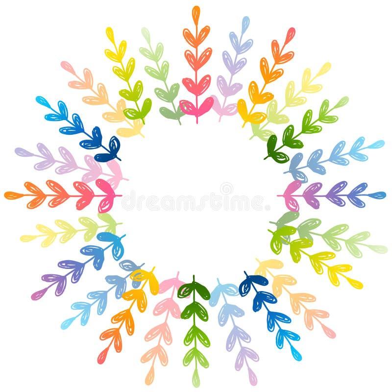 Cadre rond floral pour votre conception illustration stock
