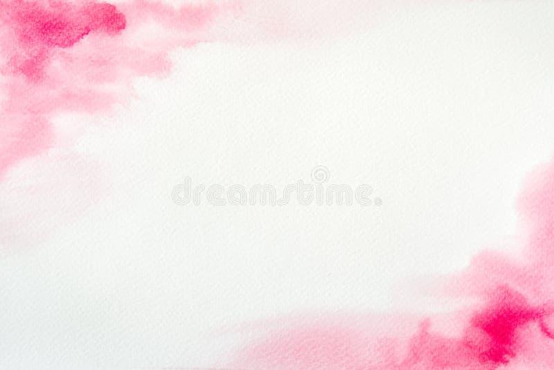 Cadre rose d'aquarelle photos libres de droits
